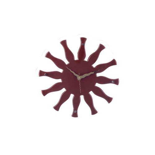 eCraftIndia Maroon Dial Decorative 40.64 cm x 40.64 cm Analogue Wall Clock