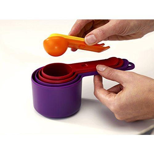 Joseph Joseph Nest Plastic Measuring Cup Set, 8-Pieces, Yellow