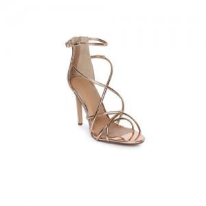 Catwalk Women Rose-Gold Toned Open Toe Sandals