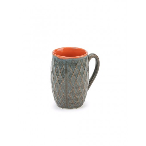 Unravel India Unravel Grey Set Of 6 Handcrafted Coffee Mugs