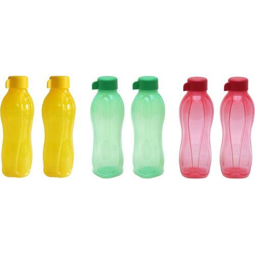 Tupperware Half-981 500 ml Bottle(Pack of 6, Yellow, Green, Red)