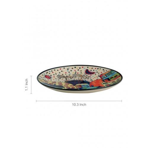 ExclusiveLane MultiColour Hand-Painted Ceramic Plates