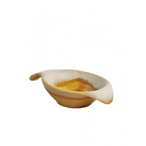 ExclusiveLane Mustard & Off-White 2-Pieces Solid Ceramic Bowls Set
