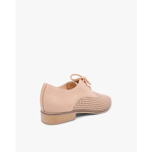 AJIO Laser-Cut Derby Shoes