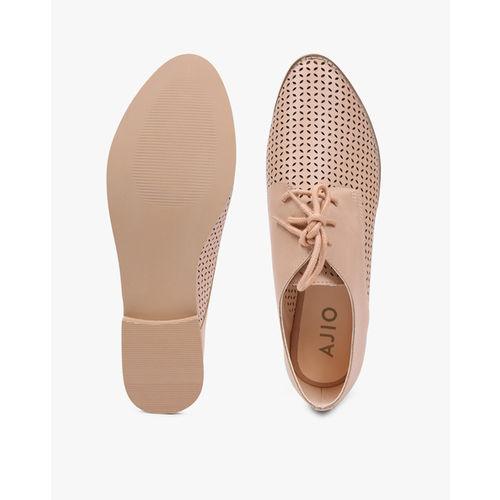 AJIO Laser-Cut Derby Shoes