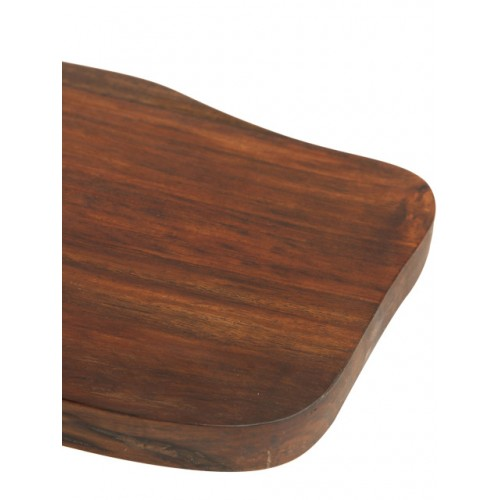 ExclusiveLane Brown Wooden Cheese & Bread Serving Platter