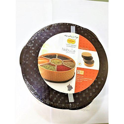 Milestouch Plastic Unbreakable Airtight Lock Spice/ Dry Fruit/Masala Box (9-inch, Multicolour)