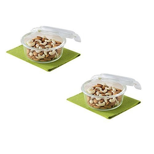 Borosil Klip & Store Round Containers with Lid