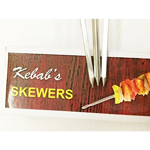 Milestouch Skewers Wood handle Skewers for Tandoor - barbeque