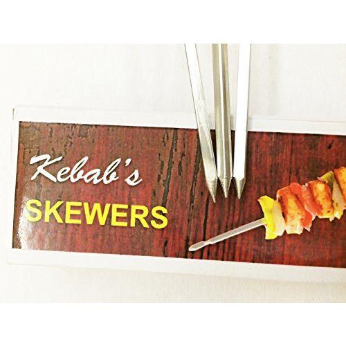 Milestouch Skewers Wood handle Skewers for Tandoor - barbeque