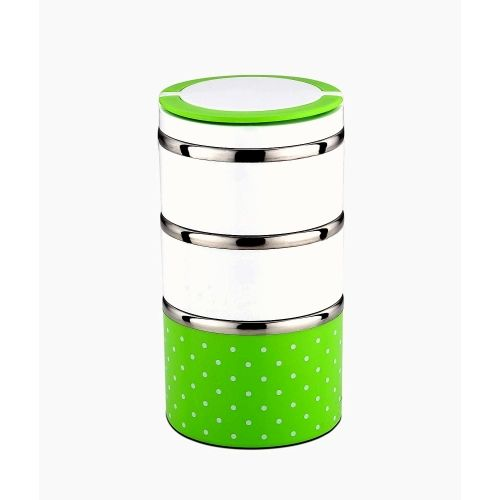 Signoraware Easy prime steel lunch box - 1800 ml 3 Containers Lunch Box