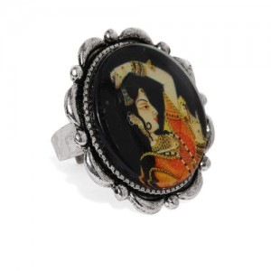 Zaveri Pearls Women Silver Toned Padmavati Inspired Finger Ring