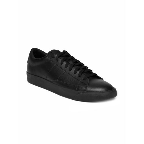 competitive price 5b1c1 63eb2 ... Nike Men Black Blazer Low Perforated Leather Casual Shoes ...