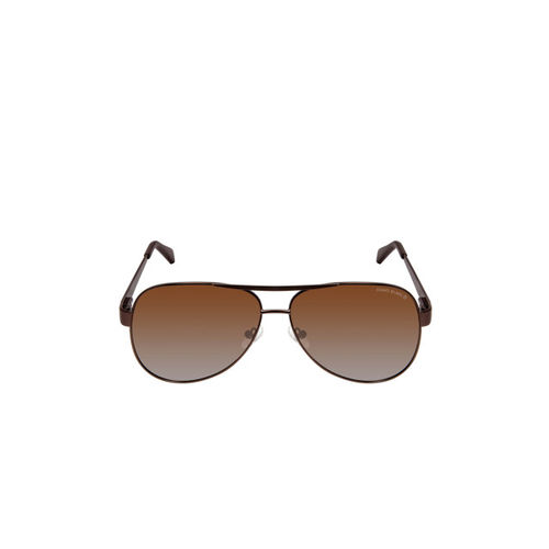 David Blake Unisex Brown Aviator Sunglasses SGDB1627x84215C3