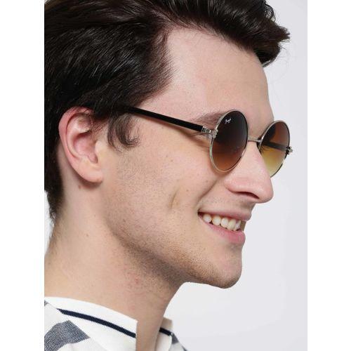 Floyd Unisex Round Sunglasses 101_SIL_BRN