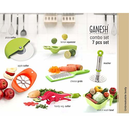 Ganesh Plastic Cutter Combo, 7-Pieces, Multicolour