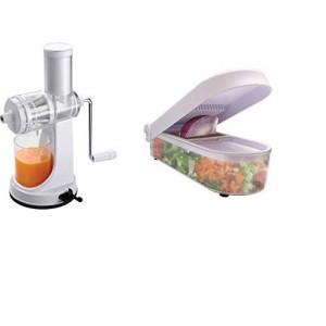 Ganesh Plastic Fruit and Vegetable Juicer Set, 2-Pieces, White