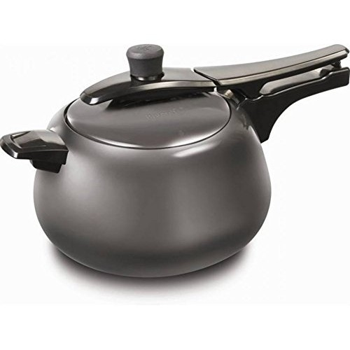 Pigeon Spectra Aluminium Hard Anodized Pressure Cooker with Induction Base, 5L (Black, Spectra5)