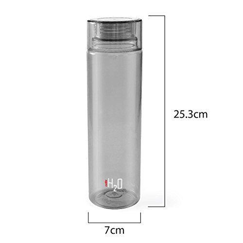 Cello H2O Unbreakable Premium Edition Bottle, 1 Litre, Set of 6, Grey