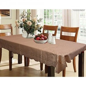 a890259856e Kuber Industries Designer Dining Table Cover Brown Cloth Net for 6 Seater 60    90 Inches