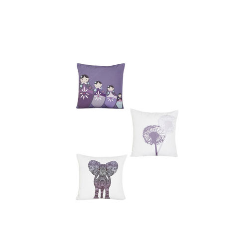 Alina decor White Set of 8 Quirky Square Cushion Covers