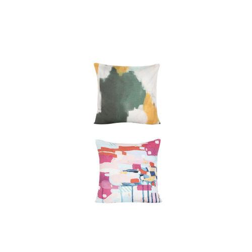 Alina decor Multicoloured Set of 8 Abstract Square Cushion Covers