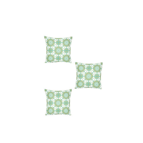 Alina decor Green Set of 5 Geometric Square Cushion Covers
