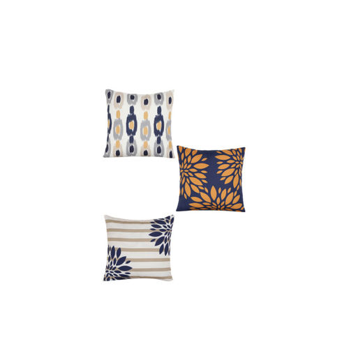 Alina decor White Set of 8 Geometric Square Cushion Covers