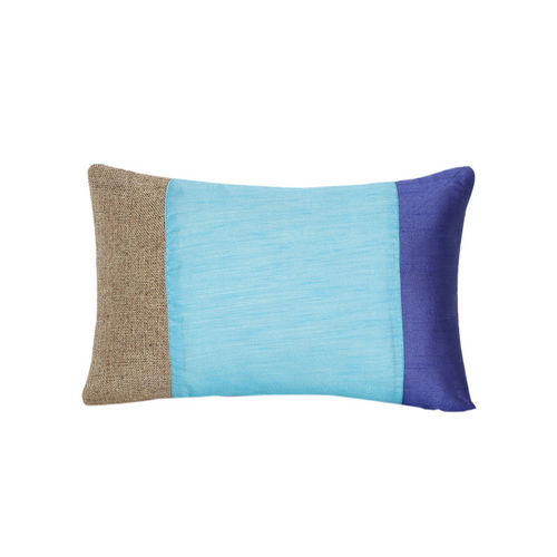 Alina decor Blue/Beige Solid Rectangle Cushion Covers