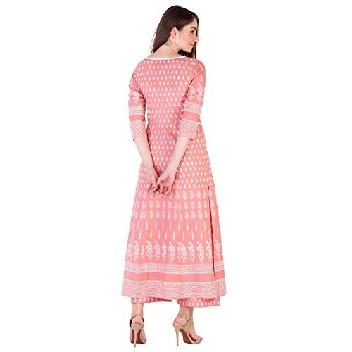 Amayra Pink Cotton Printed Kurti With Palazzos
