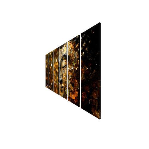 999Store Gold-Toned & Brown Set of 6 Buddha Wall Art