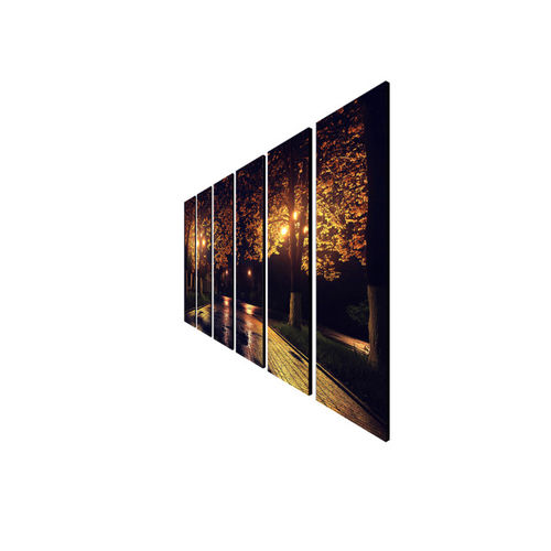 999Store Brown & Yellow Set of 6 Nature in The Night Wall Art