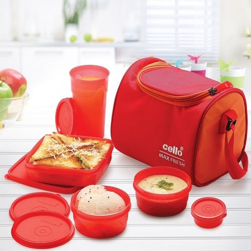 Cello Max Fresh Sling Lunch 5 Containers Lunch Box