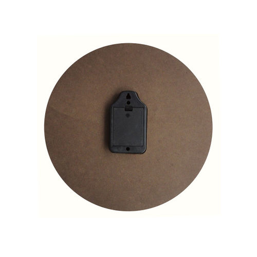 RANDOM Orange Dial Wooden 29.2 cm Analogue Wall Clock