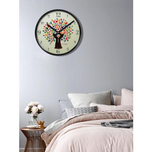 RANDOM Multicoloured Printed Dial 27.94 cm Analogue Wall Clock