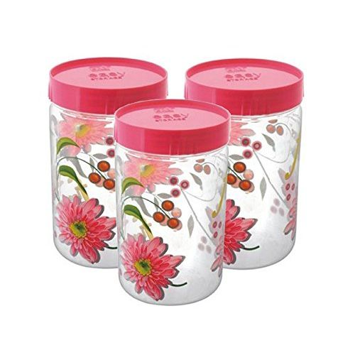 Kuber Industries 3 Piece Plastic Storage Box Set, Pink (Contain04)