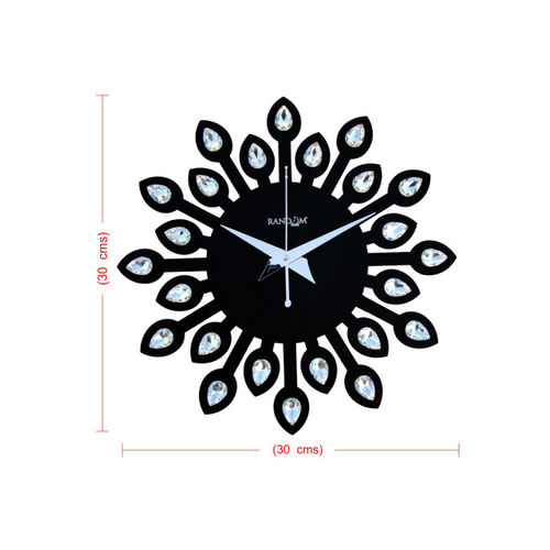 RANDOM Black Dial Jewel 30 cm Analogue Wall Clock