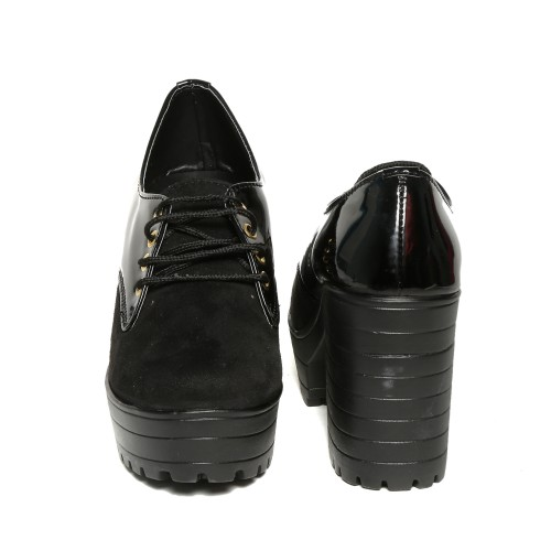 Trendy Look Black Ankle Length Casual Boots
