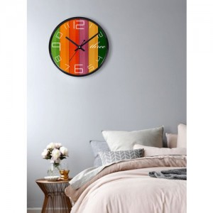 RANDOM Multicoloured Printed Dial 27.94 cm Analogue Wall Clock