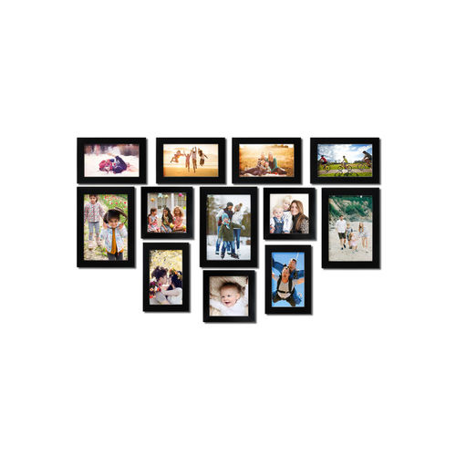 Random Set of 11 Black Photo frames