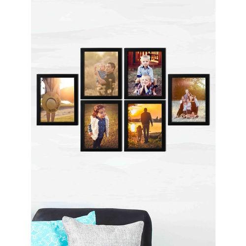 RANDOM Set of 6 Black Wall Photo Frames