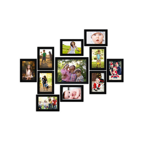 Random Set of 11 Black Photo frames