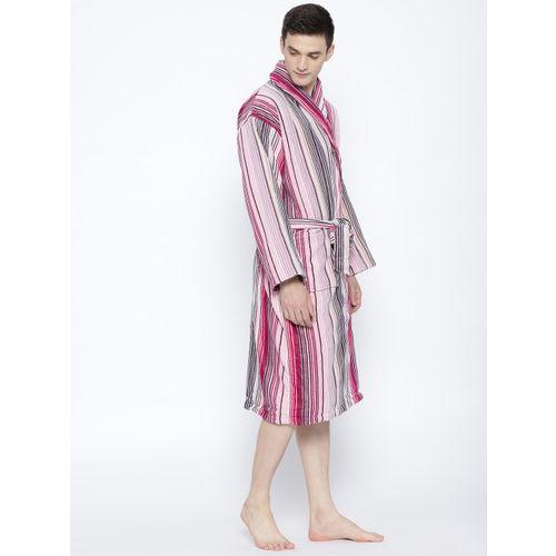 a42c6556b4 Buy CHRISTY Unisex Purple   Pink Striped Bath Robe 1030477 online ...