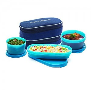 Signoraware Double Decker Lunch Box with Bag