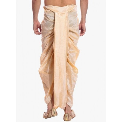 Tag 7 Beige Solid Dhoti