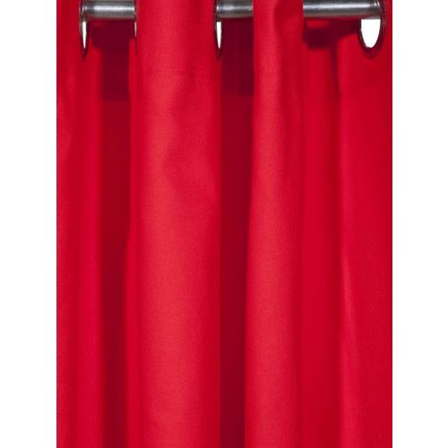 Lushomes Red Solid Door Curtain