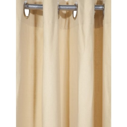 Lushomes Beige Solid Window Curtain