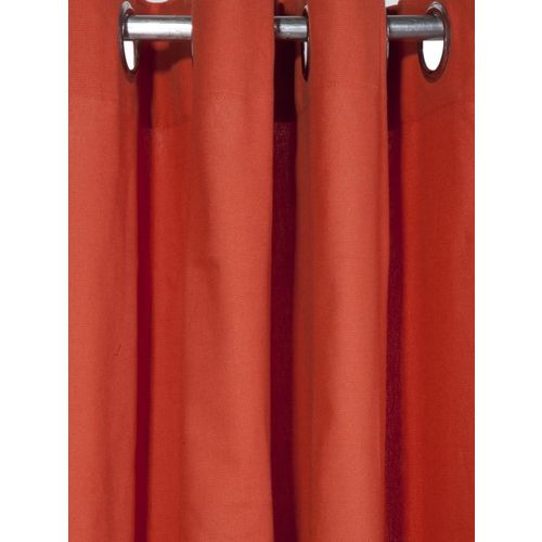 Lushomes Maroon Solid Window Curtain