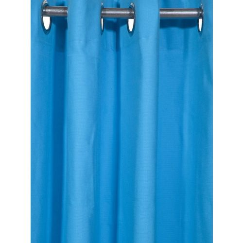 Lushomes Blue Solid Window Curtain