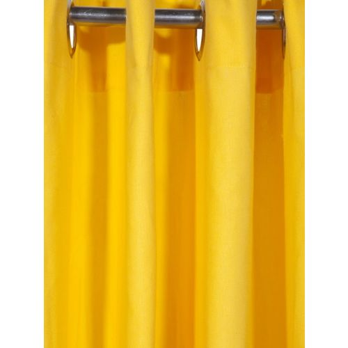 Lushomes Yellow Solid Window Curtain
